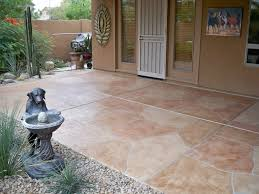 outdoor decorating ideas - flagstone patio coating